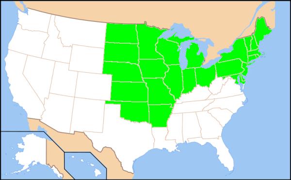map 25 AR